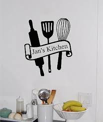 Personalized Kitchen Name Utensils Vinyl Wall Sticker Decal Wall Decor Ebay