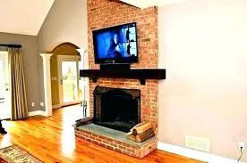 wall mount tv above fireplace mantel