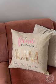 grandpa pillows with a cricut maker