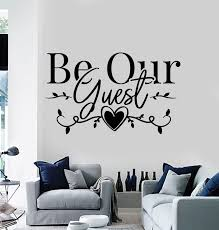 Vinyl Wall Decal Welcome Quote Home Interior Be Our Guest Room Sticker Wallstickers4you