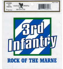 3rd Infantry Division Rock Of The Marne Outside Car Decal Sticker Pack Of 2 Clear 5 75 X 4 375 Walmart Com Walmart Com
