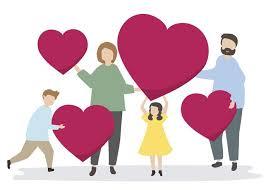 Famille heureuse avec des coeurs rouges - Telecharger Vectoriel ...