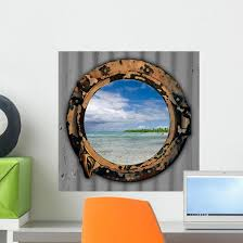 Beach Port Hole Wall Decal Wallmonkeys Com