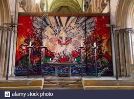 Anglo German Tapestry by German artist Ursula Benker-Schirmer, and the  Shrine of St Richard at Chichester Cathedral, West Sussex. UK (114 Stock  Photo - Alamy