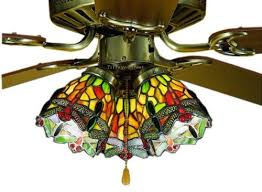 stained glass ceiling fan 52 inches