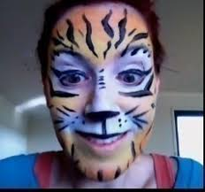 tiger face paint how to create a face