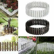 Mini Wooden Fence For Fairy Garden Miniature Landscape Home Decor For Sale Online Ebay