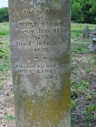 """Mary """"Polly"""" Butler Brown (1779-1853) - Find A Grave Memorial"""