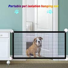 Pet Gate Baby Gate Safety Pets Fence Retractable Portable Folding Adjustable Mesh Dog Gate 40 4 Inch For Hall Doorways Stair Outdoor Easy To Install Black Baby Lazada Ph