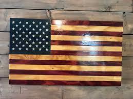 rustic american wood flag military