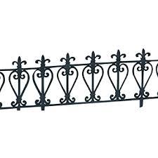 Mygarden The Louvre Border Fence Set Cast Iron Effect Flexible Polypropylene Border Fencing Small Metal Garden Border Fence 4 Pieces 610 X 330 Mm Amazon Co Uk Garden Outdoors