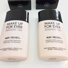 make up forever mat velvet foundation