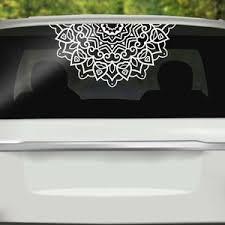 Half Mandala Window Decals Car Decals Wall Decal Vinyl Decal Etsy