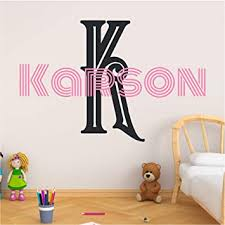 Amazon Com Custom Name Initial Wall Decal Choose Your Own Name Initial And Font Multiple Sizes And Colors Girl S Name Vinyl Wall Stickers For Kids Girl S Nursery Wall Decor Wall Decal Whrfju