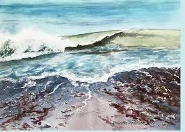 Outgoing Tide Painting by Priscilla Patterson