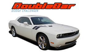 Double Bar Dodge Challenger Fender Stripes Challenger Hood Decals