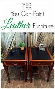yes you can paint leather furniture