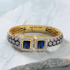 prussian blue stone bracelet designed