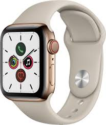 Customer Reviews: Apple Watch Series 5 (GPS + Cellular) 40mm Gold Stainless  Steel Case with Stone Sport Band Gold Stainless Steel MWWU2LL/A - Best Buy