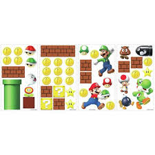 Roommates Nintendo Super Mario Build A Scene Peel Stick Wall Decal At Menards