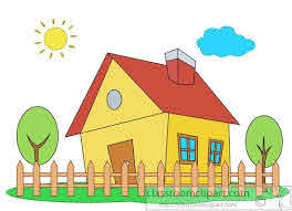 Home Clipart House With Picket Fence Trees Clipart 5775 Classroom Clipart