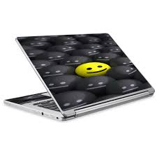 Skin Decal For Acer Chromebook R13 Laptop Vinyl Wrap 1 Yellow Happy Emoji Wit For Sale Online