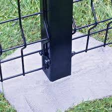 74 Black Euro Steel Fence Post With Hardware At Menards