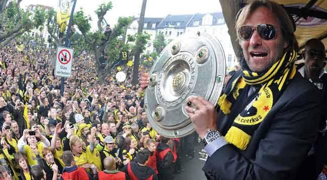 """Image result for Klopp Bundesliga trophy"""""""