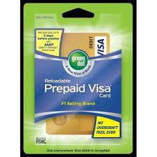 green dot visa reloadable prepaid card