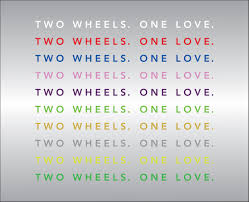 Two Wheels One Love Custom Motorcycle Decal Ride Rich