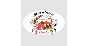 Maryland Flag Blue Crab Car Decal Sticker Zazzle Com