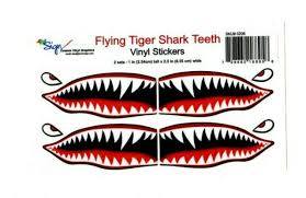 Flying Tigers Shark Teeth Decals 1 T X 2 5 Wwii Plane Canoe Stickers Airplane For Sale Online Ebay