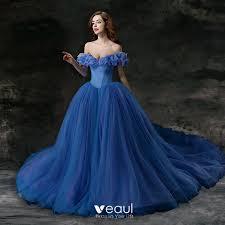 ocean blue prom dresses 2018 ball gown