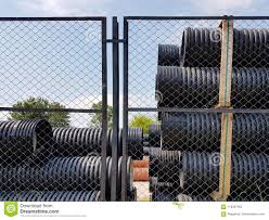 A Warehouse Of Plastic Pipes For Various Purposes Diameter And Color Under The Open Sky Manufacture And Sale Of Plastic Products Stock Image Image Of Diameter Orange 118397465