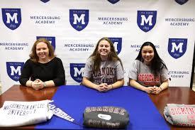 "Mercersburg Athletics on Twitter: ""On to the next chapter! (L-R) Seniors  Caroline Kranich, Addie Jenkins & Annie Leder sign their Division III  celebratory signing form tonight. Kranich (Washington and Lee) & Jenkins ("