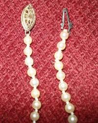 1950s genuine pearl strand necklace