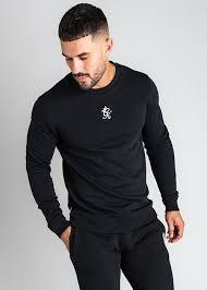 gym king basis crew neck black sweatshirt
