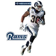 Fathead Todd Gurley Ii Los Angeles Rams 3 Pack Life Size Removable Wall Decal