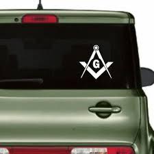 Freemason Bumper Sticker Compass Masonic Square Illuminati Mason Gogostickers Auto Parts And Vehicles Car Truck Graphics Decals Magenta Cl