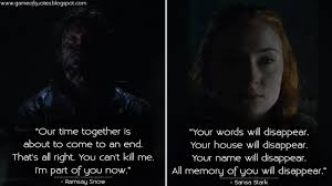 game of thrones quotes ramsay snow our time together is about to