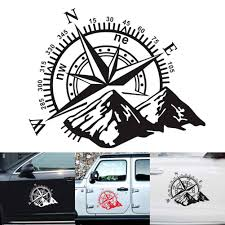 3d Car Sticker Compass Rose Navigate Mountain 4x4 Offroad Vinyl Sticker Decal Car Decal Auto Accessories Car Stickers Aliexpress