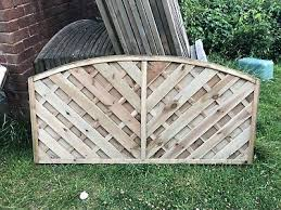 6ft X 3ft Small Garden Fence Panel Wood Outdoor Yard Privacy Screen Edge Fencing Ebay