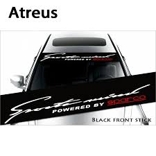 Car Truck Parts Car Truck Decals Stickers Powered By Sparco Car Front Windshield Window Banner Decal Sticker 130 21cm Moonnepal Com