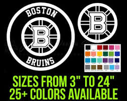 Bruins Car Decal Etsy