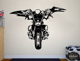Amazon Com Wall Decal Motorcycle Decals Motorbike Decal Harley Wall Decal Harley Davidson Wall Decal T2098 Home Kitchen