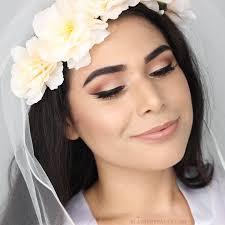 fall bride makeup tutorial warm eyes