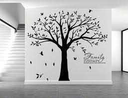 Amazon Com Lskoo Large Family Tree Wall Decal With Family Llike Branches On A Tree Wall Decals Wall Sticks Wall Decorations For Living Room Black Home Kitchen