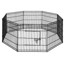 I Pet 24 8 Panel Pet Dog Playpen Puppy Exercise Cage Enclosure Play Pen Fence