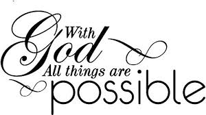 Amazon Com Omega With God All Things Are Possible Vinyl Decal Sticker Quote Large Black Home Kitchen