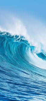 sea wave rolls water splash 1242x2688